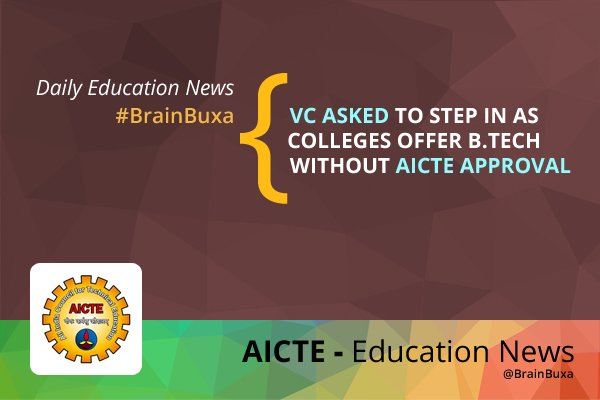 VC asked to step in as colleges offer B.Tech without AICTE approval